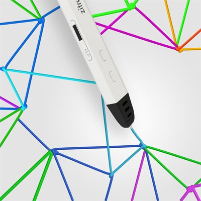 Professional Printing 3D Pen with OLED Display By Zitronik