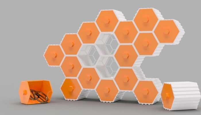The HIVE – Stackable Hex Drawers